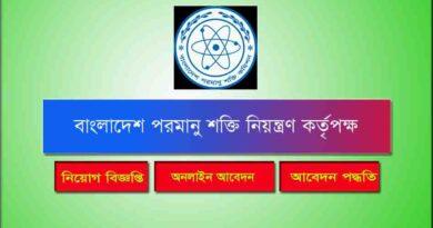 Bangladesh Atomic Energy Job Circular 2021
