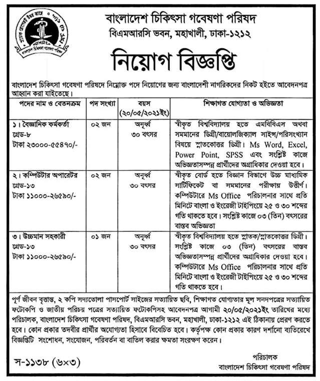 BMRC Job Circular 2021