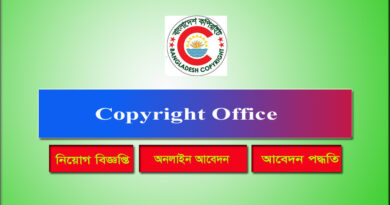 Copyright Office Job circular 2021