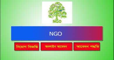 NGO Job Circular 2021