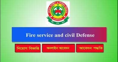 Fire service and civil Defense