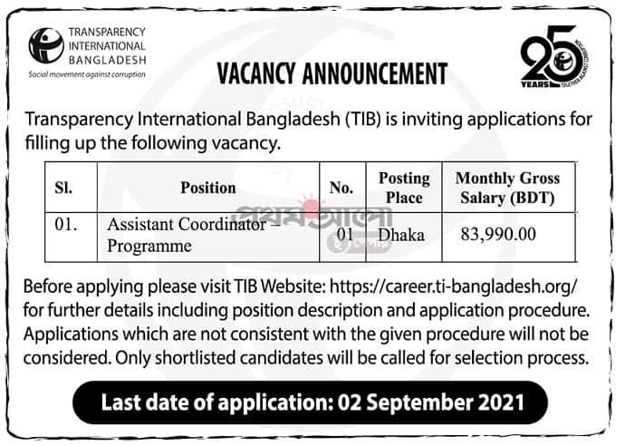 Transparency International Bangladesh Job Circular 2021