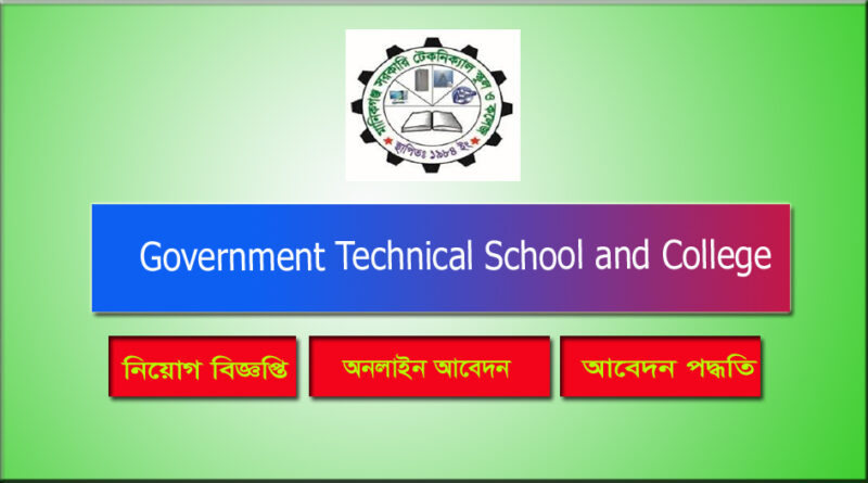 Government Technical School and College Job Circular 2021